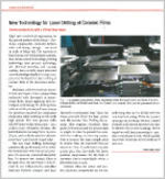 New Technology for Laser Drilling of Ceramic Films
