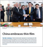 China embraces thin film