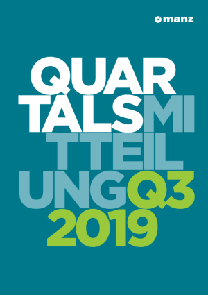 Quartalsmitteilung 3. Quartal 2019