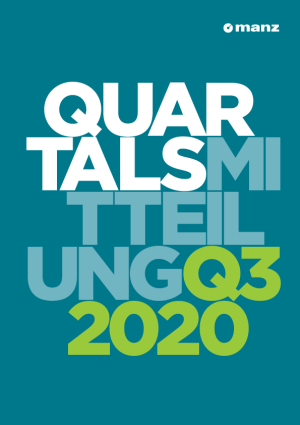 Quartalsmitteilung 3. Quartal 2020
