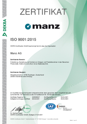 ISO 9001-Certificate