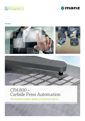 Produktbroschüre - CPA 800 - Carbide Press Automation
