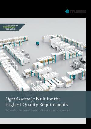 """产品目录 – """"Light Assembly""""在线式自动化装配及质量验证生产线"""